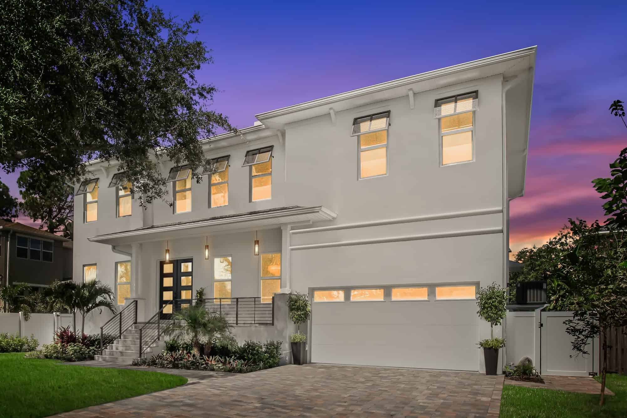 Contemporary Style Luxury Home Exterior South Tampa